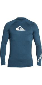 2021 Quiksilver All Time Lycra Vest Lange Mouwen EQYWR03240 - Majolica-blauw