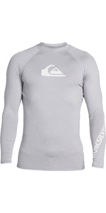 2020 Quiksilver Mens All Time Long Sleeve Rash Vest EQYWR03240 - Steel Heather