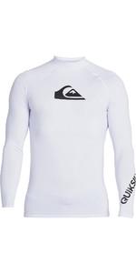 2021 Quiksilver Mens All Time Long Sleeve Rash Vest EQYWR03240 - White