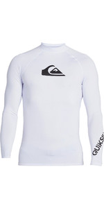 2020 Quiksilver Mens All Time Long Sleeve Rash Vest EQYWR03240 - White