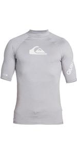 2020 Quiksilver Mens All Time Short Sleeve Rash Vest EQYWR03228 - Sleet Heather