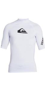 2020 Quiksilver Mens All Time Short Sleeve Rash Vest EQYWR03228 - White