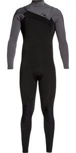 2019 Quiksilver Mens Highline Ltd Monochrome 4/3mm Chest Zip Hydrolock Wetsuit Black / Jet Black EQYW103074