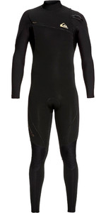 2019 Quiksilver Heren Highline 4/3mm Wetsuit Met Rits Zwart EQYW103061