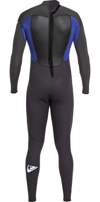 2021 Quiksilver Mens Prologue 5/4/3mm Back Zip Wetsuit Black / Nite Blue EQYW103072
