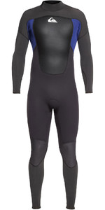 2021 Quiksilver Dos Homens Prologue 5/4/3mm Back Zip Wetsuit Preto / Eqyw103072 Azul Nite