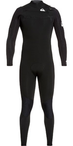 2019 Quiksilver Mens Syncro 3/2mm Chest Zip Wetsuit Black / White EQYW10308