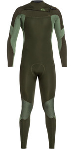 2019 Quiksilver Mens Syncro 3/2mm Chest Zip Wetsuit Dark Ivy / Shade Olive EQYW103085