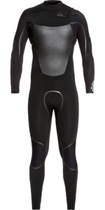 2021 Quiksilver Mannen Syncro Plus 4/3mm Chest Zip Wetsuit Zwart Eqyw103082
