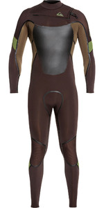 2019 Quiksilver Mens Syncro Plus 4/3mm Chest Zip Wetsuit Velvet Brown / Dark Beech EQYW103082