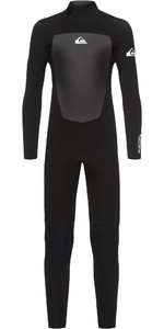 2021 Quiksilver Toddler Boy's Prologue 4/3mm Back Zip Wetsuit Black EQBW103038