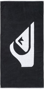 2019 Quiksilver Woven Logo Strandtuch Schwarz EQYAA03108