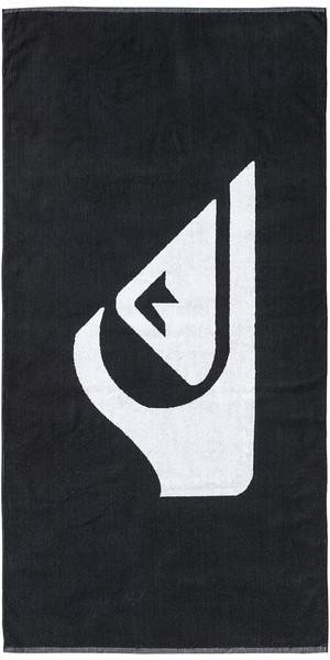 2019 Quiksilver Woven Logo Serviette de plage Noir EQYAA03108
