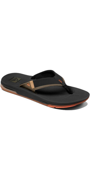 2018 Reef Mens Fanning Low Flip Flops Orange / Grey RA3KIHBLA