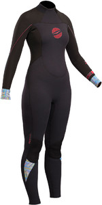 2019 Gul Response Mulheres 4/3mm Gbs Back Zip Wetsuit Preto Re1248-b4