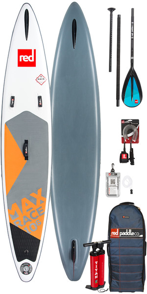 "2019 Red Paddle Co Max Race 10'6 x 24 ""Stand Up Paddle Board gonfiabile + Borsa, pompa, paddle e guinzaglio"