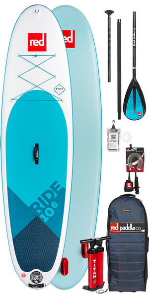 2018 Red Paddle Co 10'6 Ride Inflatable Stand Up Paddle Board + Bag, Pump, Paddle & Leash