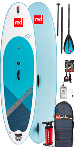 2018 Red Paddle Co WindSUP 10'7 Aufblasbare Stand Up Paddle Board + Tasche, Pumpe, Paddel & Leine