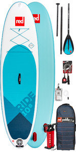 2019 Red Paddle Co Ride 10'8 Stand Up Paddle Board inflable - Paquete de paletas de aleación