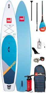 "Red Paddle Co Sport MSL 12'6 ""aufblasbares Stand Up Paddle Board - Carbon 50 Paddel Paket"