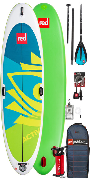 2018 Red Paddle Co Aktiv Yoga 10'8 Aufblasbare Stand Up Paddle Board + Tasche, Pumpe, Paddel & Leine