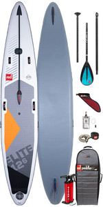 "2020 Red Paddle Co Elite MSL 12'6 ""x 26"" Aufblasbares Stand Up Paddle Board , Tasche, Pumpe, Leine & Aluminium"