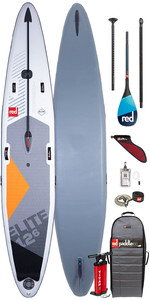 "2020 Red Paddle Co Elite MSL 12'6 ""x 26"" Aufblasbares Stand Up Paddle Board - Carbon 100 Paddel Paket"