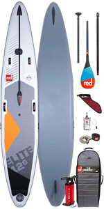 "2020 Red Paddle Co Elite MSL 12'6 ""x 26"" Aufblasbares Stand Up Paddle Board , Tasche, Pumpe, Leine & Carbon 50"