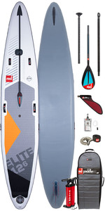 "2020 Red Paddle Co Elite MSL 12'6 ""x 26"" Aufblasbares Stand Up Paddle Board - Carbon / Nylon Midi Paddel Paket"
