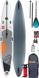 "2019 Red Paddle Co Elite 12'6 X 26 ""Infltable Stand Up Paddle Board + Tasche, Pumpe, Paddle & Leine"