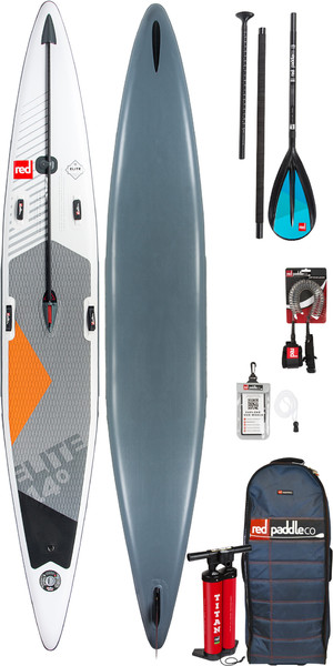 "2019 Red Paddle Co Elite 14'0 x 25 ""Aufblasbares Stand Up Paddle Board + Tasche, Pumpe, Paddel & Leine"