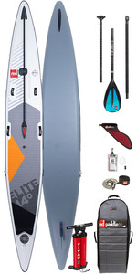 "2020 Red Paddle Co Elite MSL 14'0 ""x 25"" Aufblasbares Stand Up Paddle Board - Paddelpaket Aus Aluminium"