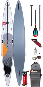 "2020 Red Paddle Co Elite MSL 14'0 ""x 27"" Aufblasbares Stand Up Paddle Board - Carbon / Nylon Paddel Paket"