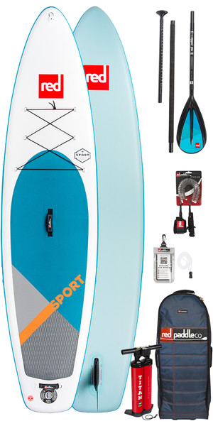 2018 Red Paddle Co Sport 11'3 Aufblasbare Stand Up Paddle Board + Tasche, Pumpe, Paddel & Leine