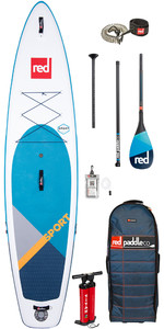 "2020 Red Paddle Co Sport MSL 11'0 ""aufblasbares Stand Up Paddle Board - Carbon 100 Paddel Paket"