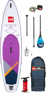 "Red Paddle Co Sport Msl Se Lila 11'3 ""aufblasbares Stand Up Paddle Board - Carbon 100 Paddel Paket"