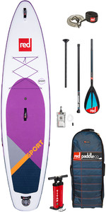 "Red Paddle Co Sport Msl Se Lila 11'3 ""aufblasbares Stand Up Paddle Board - Carbon / Nylon Paddel Paket"