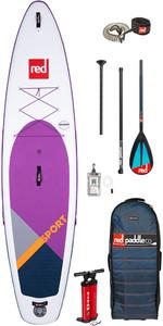 "Stand Up Paddle Board Gonflable Red Paddle Co Sport Msl Se Violet 11'3 ""- Paquet De Paddle Midi En Carbone / Nylon"