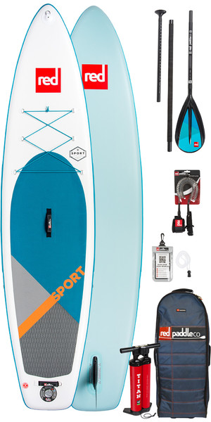 2019 Red Paddle Co Sport 11'0 gonfiabile Stand Up Paddle Board + Borsa, pompa, paddle e guinzaglio
