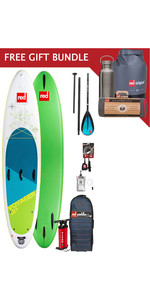 2019 Red Paddle Co Voyager 12'6 Inflable Stand Up Paddle Board Package + Paquete de regalo gratis