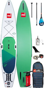 """Stand Up Paddle Board Gonflable Red Paddle Co Voyager Plus 13'2 """"- Paquet De Pagaies En Carbone 100"""