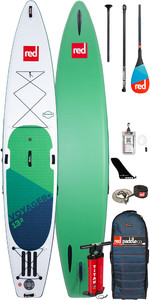 """Stand Up Paddle Board Gonflable Red Paddle Co Voyager Plus 13'2 """"- Paquet De 50 Pagaies En Carbone"""