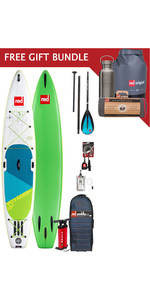 2019 Red Paddle Co Voyager 13'2 Aufblasbares Stand Up Paddle Board Paket + Gratis Geschenkpaket