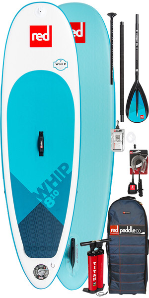 2018 Red Paddle Co Whip 8'10 Aufblasbare Stand Up Paddle Board + Tasche, Pumpe, Paddel & Leine