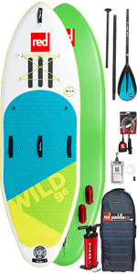 2019 Red Paddle Co Wild 9'6 Aufblasbares Stand Up Paddle Board + Tasche, Pumpe, Paddle & Leine