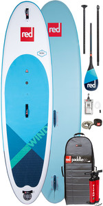 "2020 Red Paddle Co Windsup 10'7 ""aufblasbares Stand Up Paddle Board - Carbon 100 Paddelpaket"