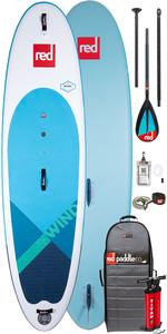 "2020 Red Paddle Co Windsup 10'7 ""aufblasbares Stand Up Paddle Board - Carbon / Nylon Midi Paddel Paket"
