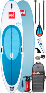 "2020 Red Paddle Co Windsurf 10'7 ""aufblasbares Stand Up Paddle Board - Carbon / Nylon Midi Paddel Paket"
