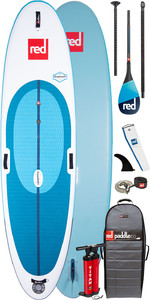 "2020 Red Paddle Co Windsurf 10'7 ""aufblasbares Stand Up Paddle Board - Carbon 100 Paddelpaket"