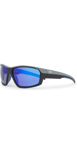 2019 Gill Race Fusion Sunglasses Blue Mirror RS26